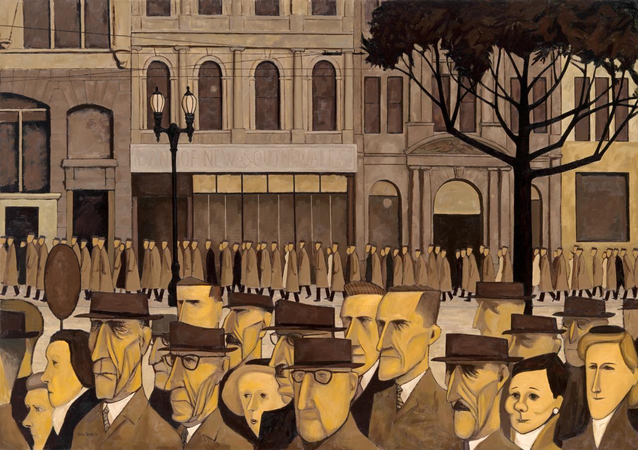 'Collins St, 5p.m.' by John Brack