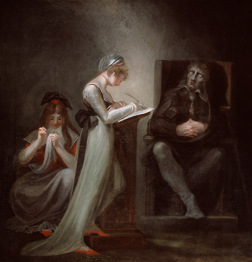 Milton dictating Paradise Lost to his daughter
